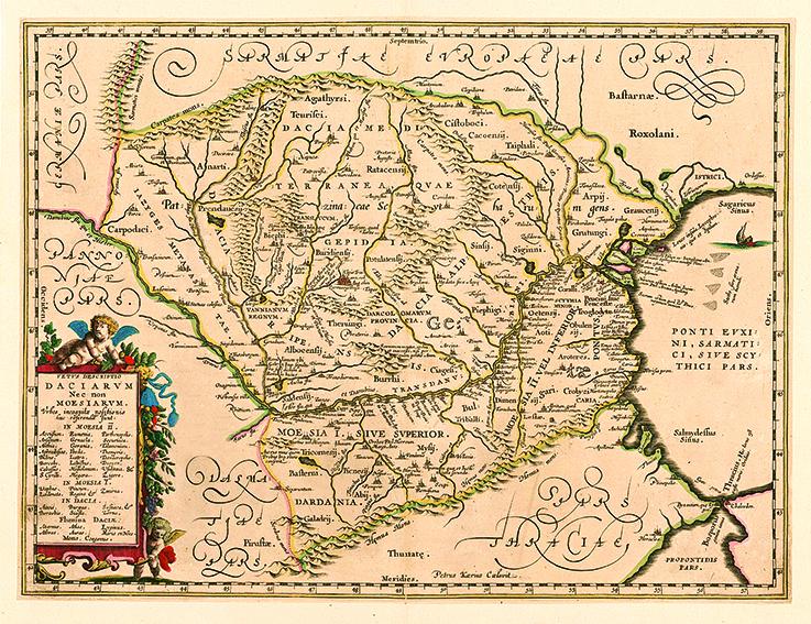 Harta Dacia 1649