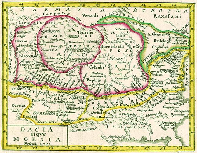 Harta Dacia 1750