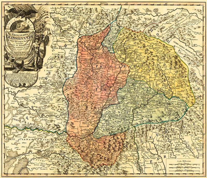 Harta Transilvania 1730