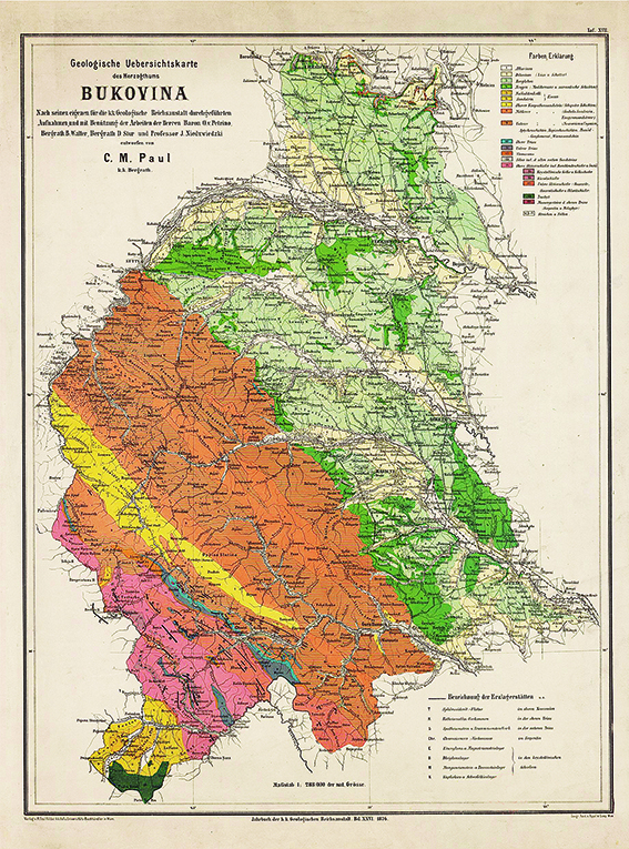 Harta Bucovina 1876