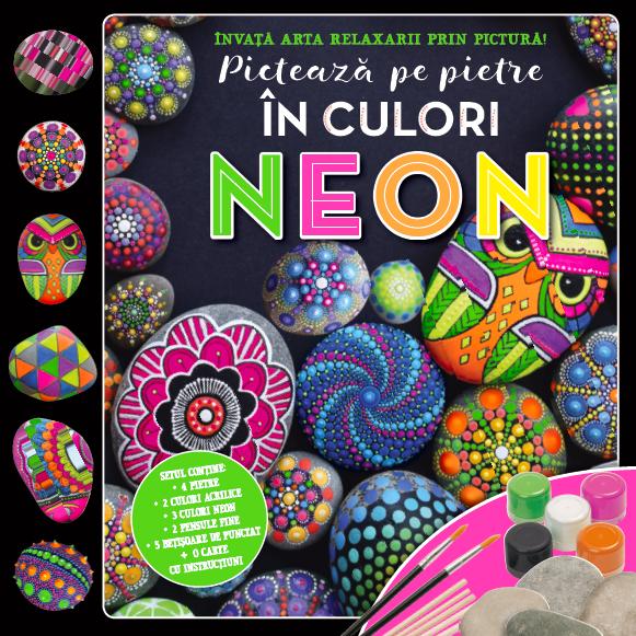 Picteaza pe pietre in culori Neon