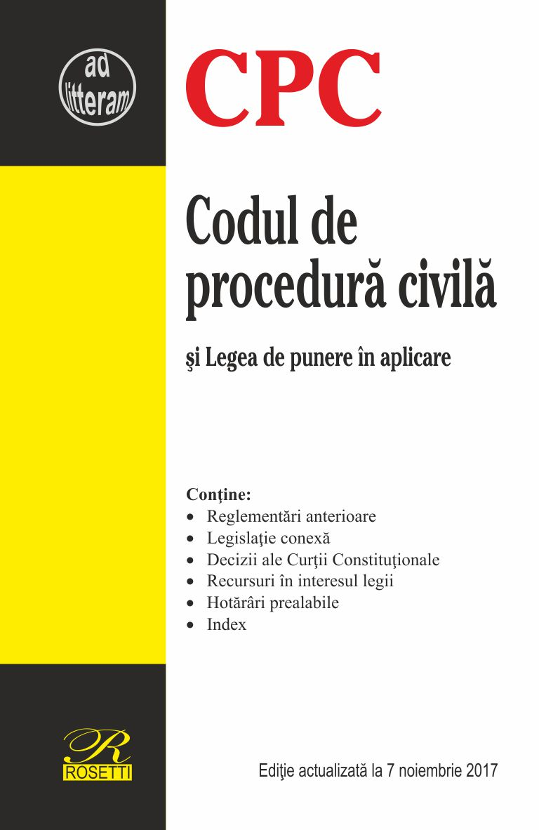 Imagine Codul De Procedura Civila -