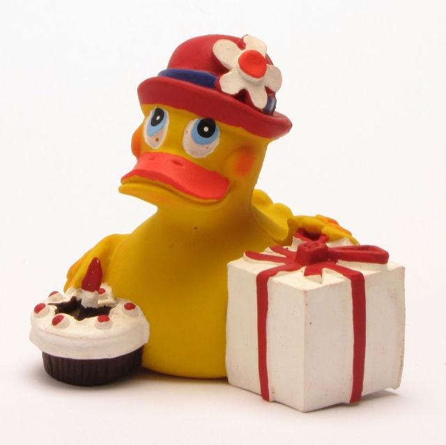 Jucarie din cauciuc - Ratusca Happy Birthday   Natura Toys