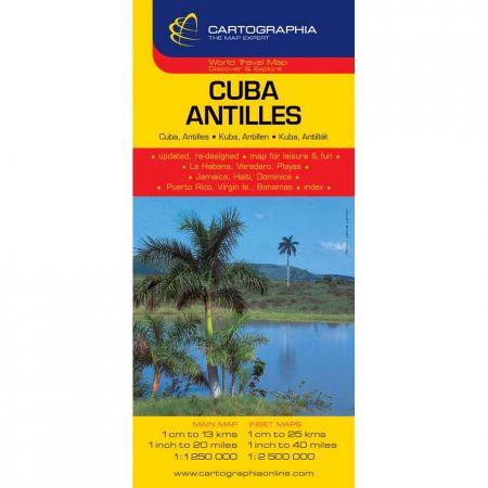 Harta rutiera Cuba,Ins.Antile