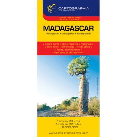 Harta rutiera Madagascar 1:2.000.000
