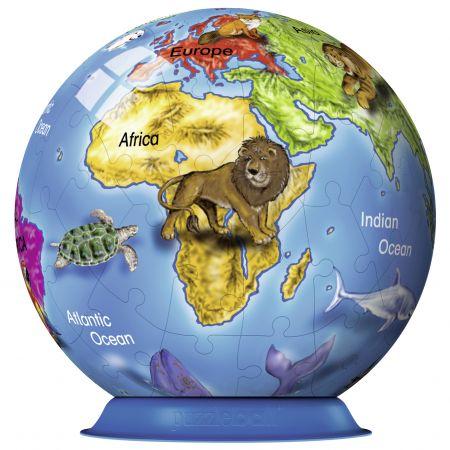 Puzzle 3D Globul pamantesc, 72 piese | Ravensburger