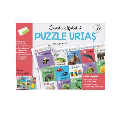 Invata alfabetul. Puzzle urias - 28 de piese mari |