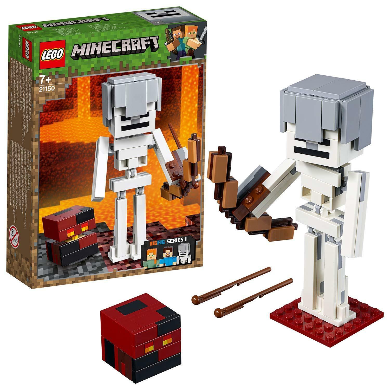Jucarie - Lego Minecraft - Schelet BigFig si cub din magma thumbnail