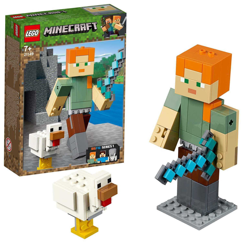 Jucarie - Lego Minecraft - Alex BigFig cu gaina thumbnail