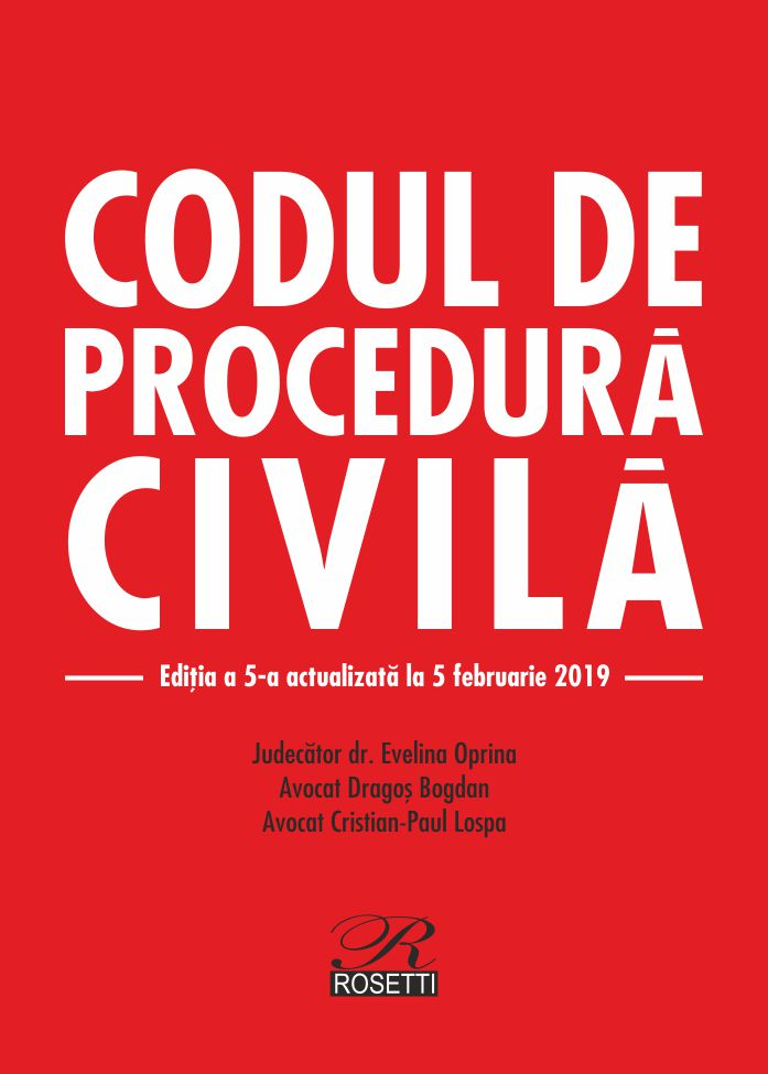 Imagine Codul De Procedura Civila - Evelina Oprina, Dragos Bogdan, Cristian