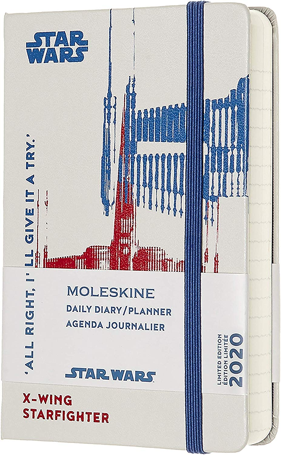 Agenda 2020 - Moleskine Limited Edition Star Wars 12-Month Daily Notebook Planner - X-Wing, Pocket, Hard cover thumbnail