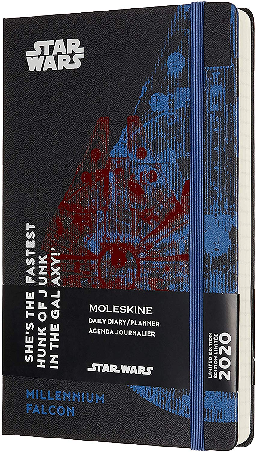 Agenda 2020 - Moleskine Limited Edition Star Wars 12-Month Daily Notebook Planner - Millennium Falcon, Large, Hard cover thumbnail