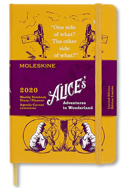Agenda 2020 - Moleskine Limited Edition Alice's Adventures in Wonderland 12-Month Weekly Notebook Planner - Yellow, Pocket, Hard cover thumbnail
