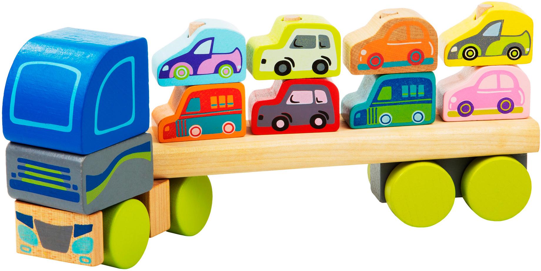 Jucarie din lemn - Camion pentru masini thumbnail
