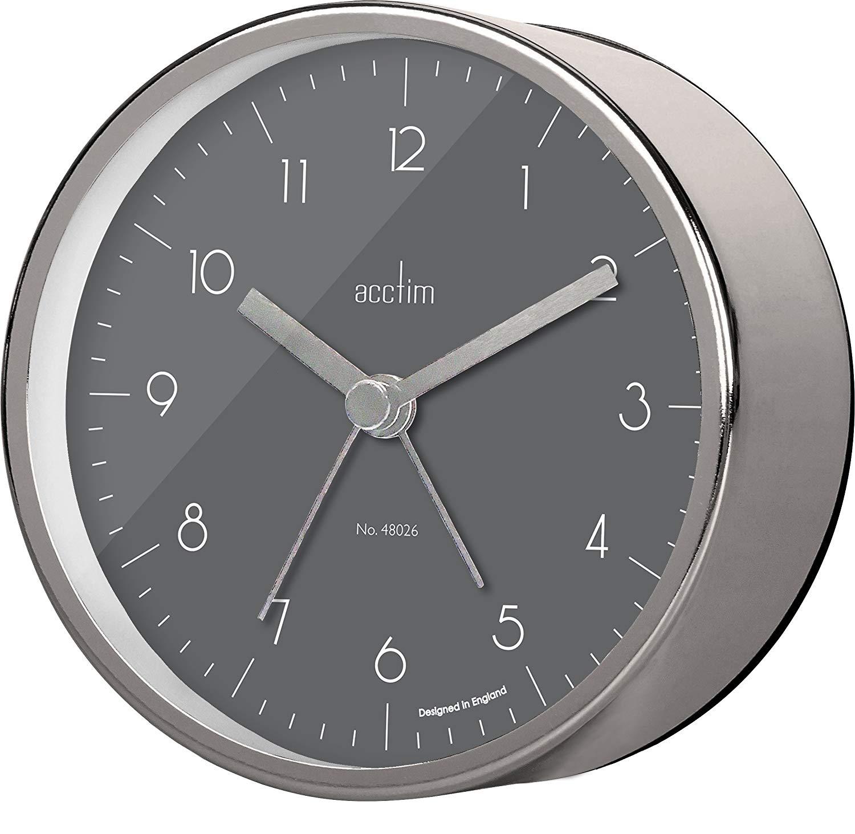 Ceas cu alarma - Oskar - Satin Steel thumbnail