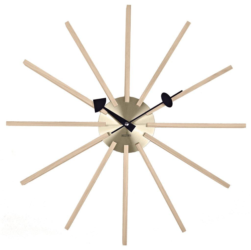 Ceas de perete - Astris - Wood & Brass thumbnail
