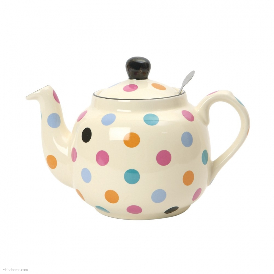 Ceainic-London Pottery Farmhouse- Filter 4 Cup Teapot-Multicolour Spot