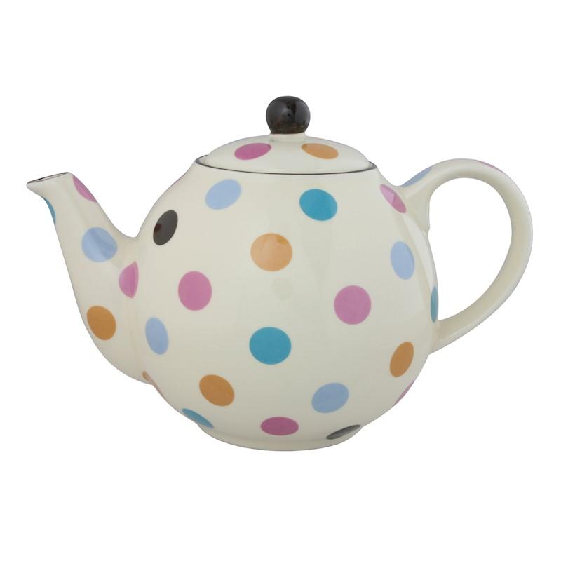 Ceainic-London Pottery Globe- 4 Cup Teapot Multi Spot