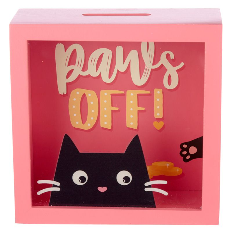 Pusculita - See Your Savings Money Box / Feline Fine Cat Design thumbnail