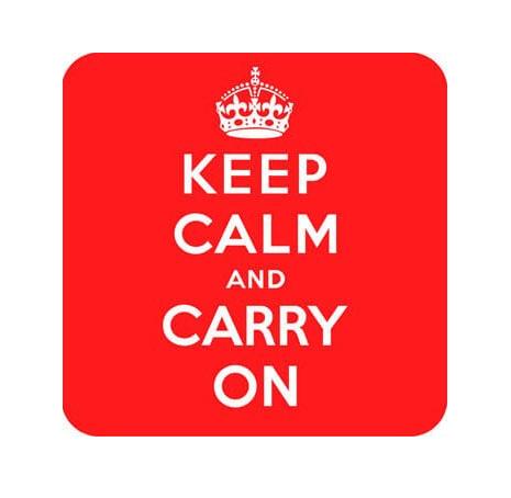 Suport pentru pahar - Keep Calm & Carry On thumbnail