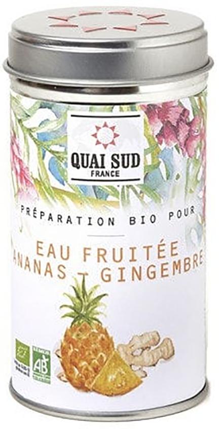 Arome de fructe - Preparation Bio pour eau fruitee ananas - gingembre boite pop thumbnail