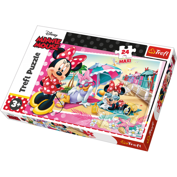 Puzzle 24 piese maxi - Minnie in vacanta   Trefl