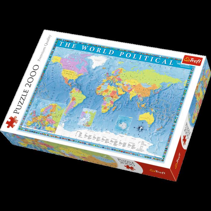 Puzzle 2000 piese - Harta Politica a Lumii | Trefl