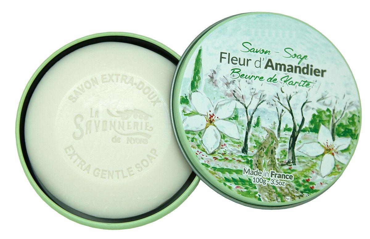 Sapun in cutie metalica, 100 g - Fleurs Amandier thumbnail