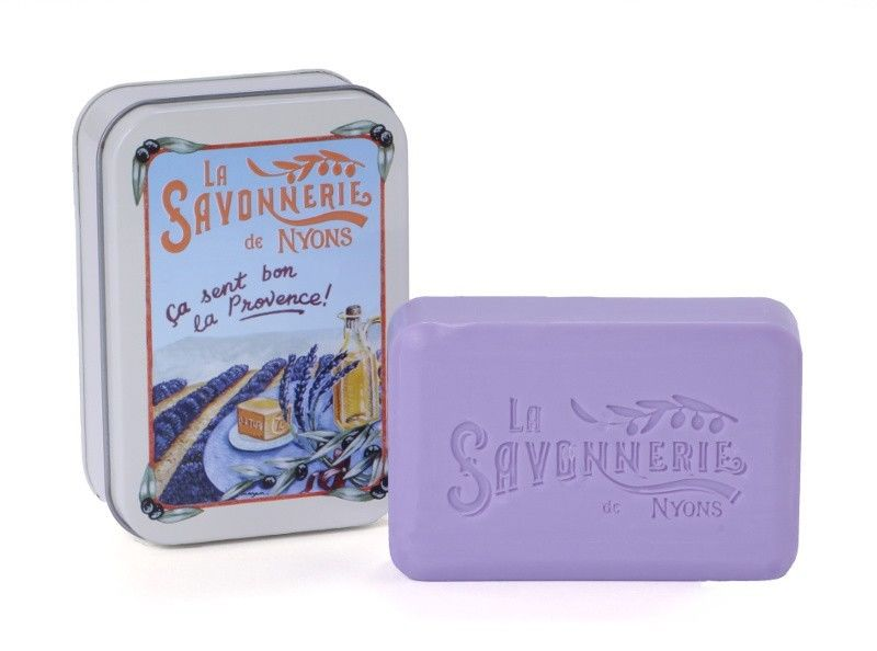 Sapun in cutie metalica, 200 g - Champs de Lavande thumbnail