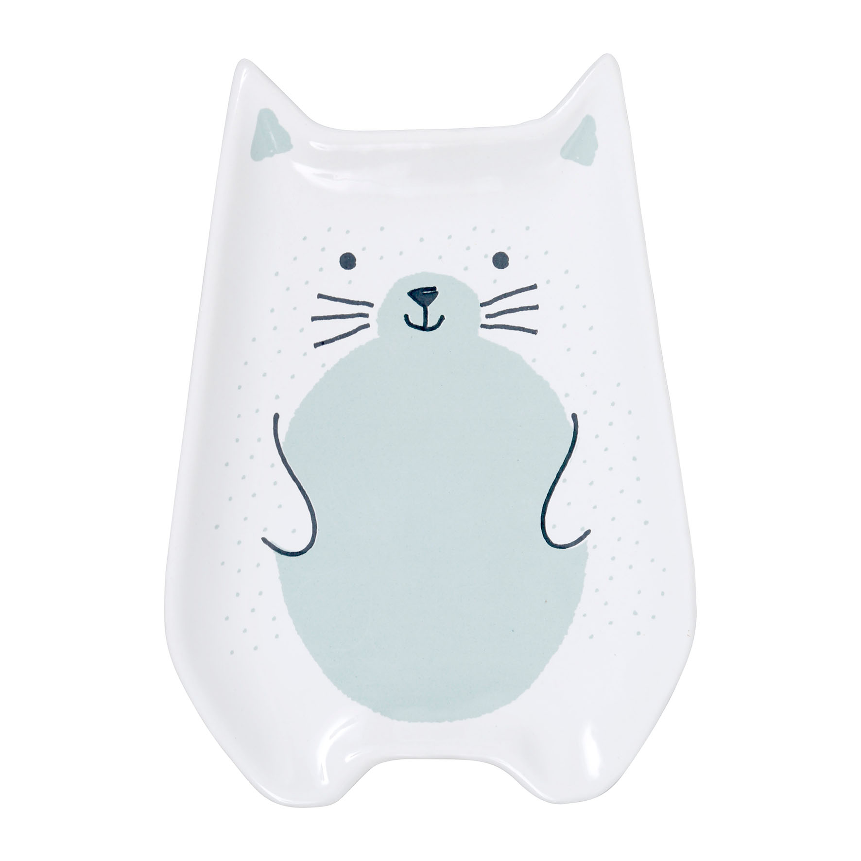 Farfurie in forma de pisica - Chaton Blanc thumbnail