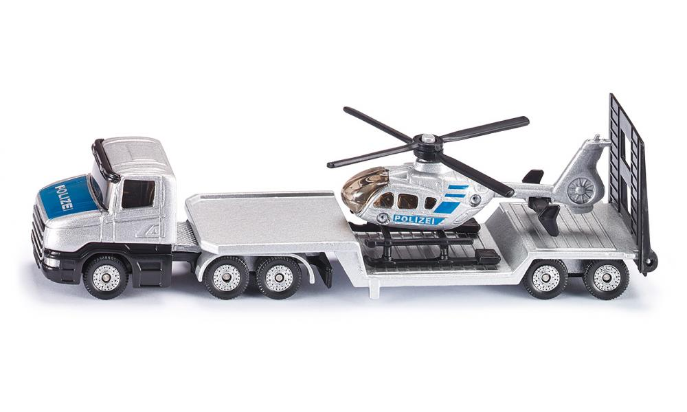 Jucarie - Low Loader with helicopter | Siku