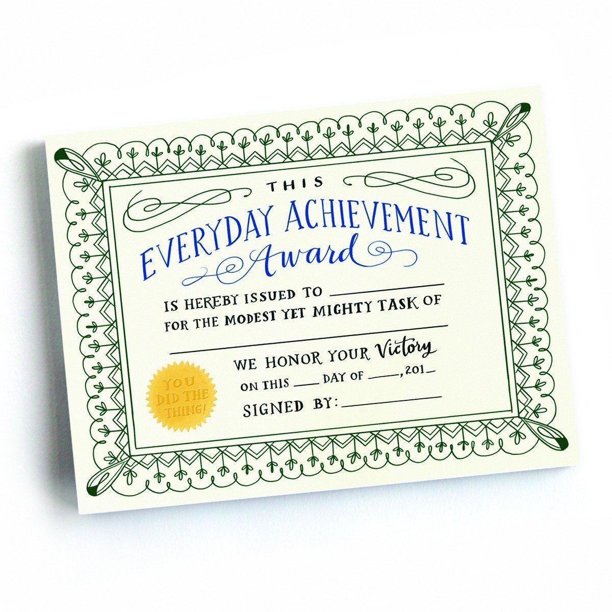 Cartolina - Everyday Achievement Award thumbnail