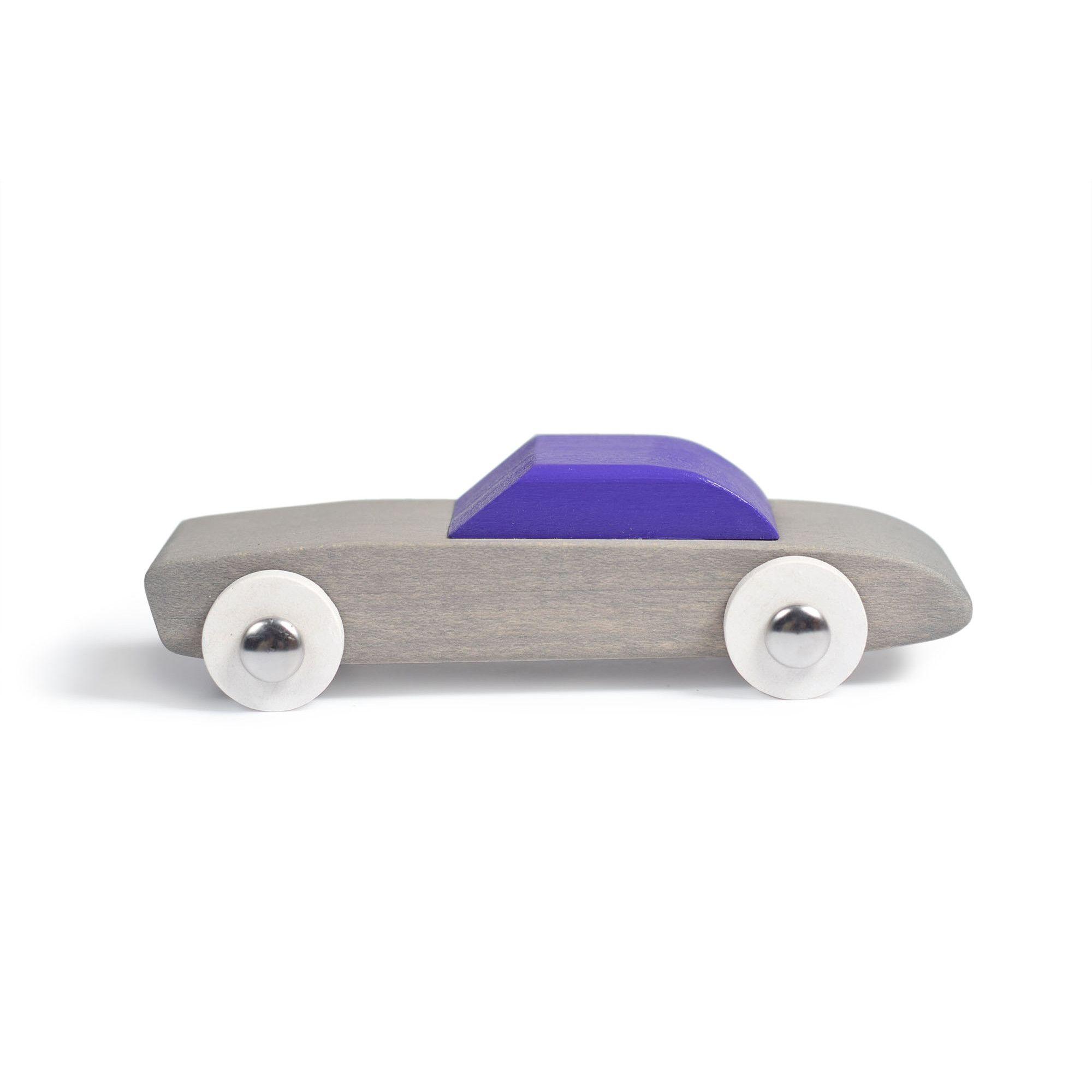 Jucarie artizanala din lemn - masinuta gri | Bumbu Toys