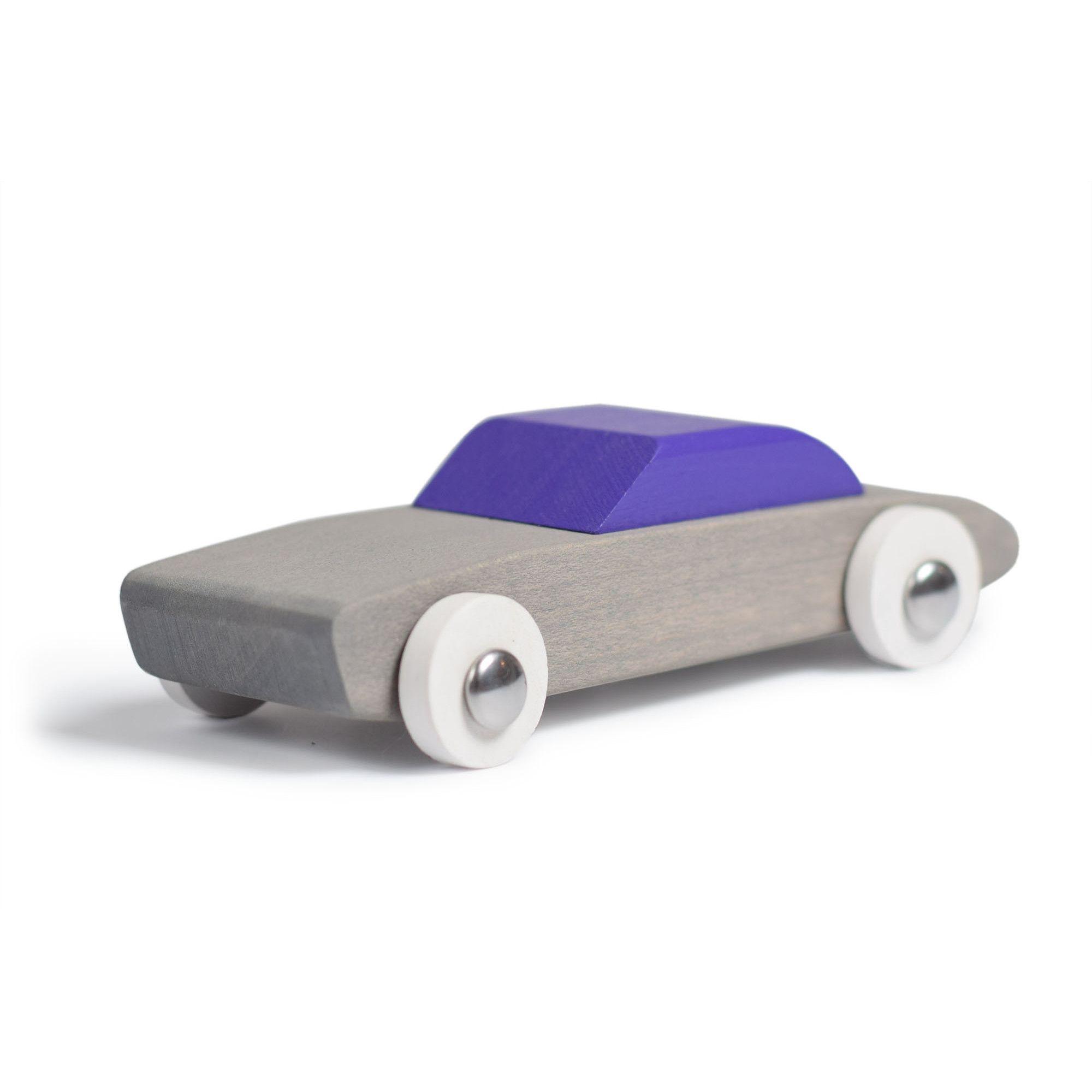 Jucarie artizanala din lemn - masinuta gri | Bumbu Toys - 3