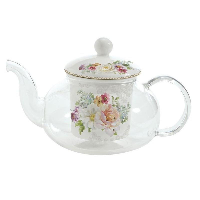 Ceainic din sticla si portelan - Romantic Lace thumbnail
