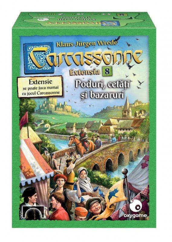 Joc de societate - Carcassonne, extensia 8, Poduri, cetati si bazaruri   Oxygame