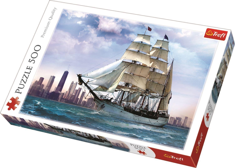 Puzzle 500 piese - Navigand spre Chicago | Trefl