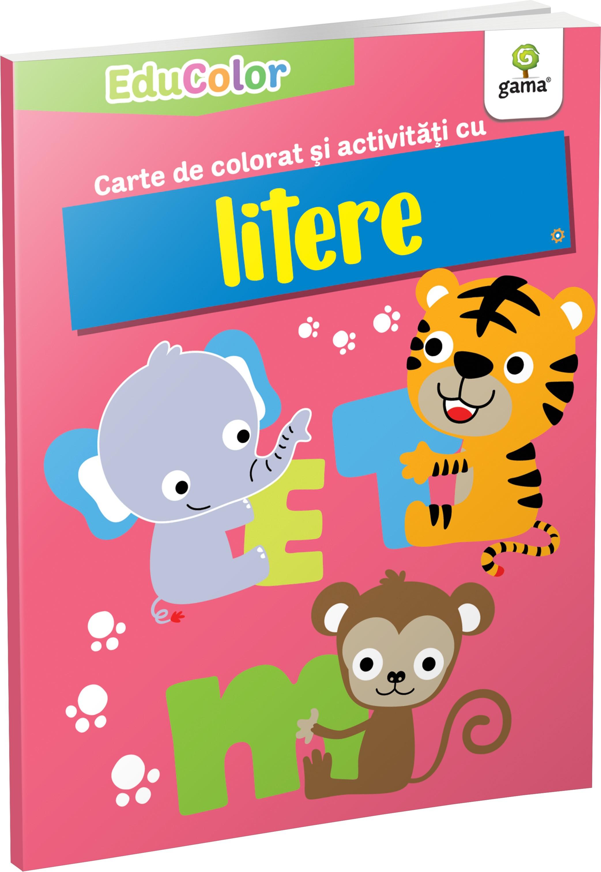 Carte de colorat si activitati cu litere