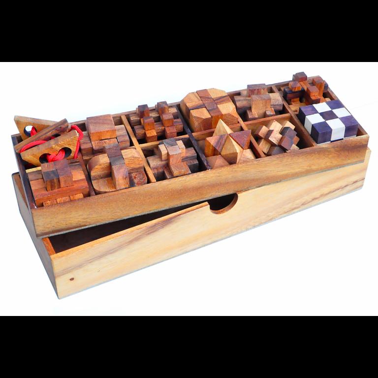 Puzzle din lemn - Wood Set 12 in 1 Leonardo da Vinci | Lex