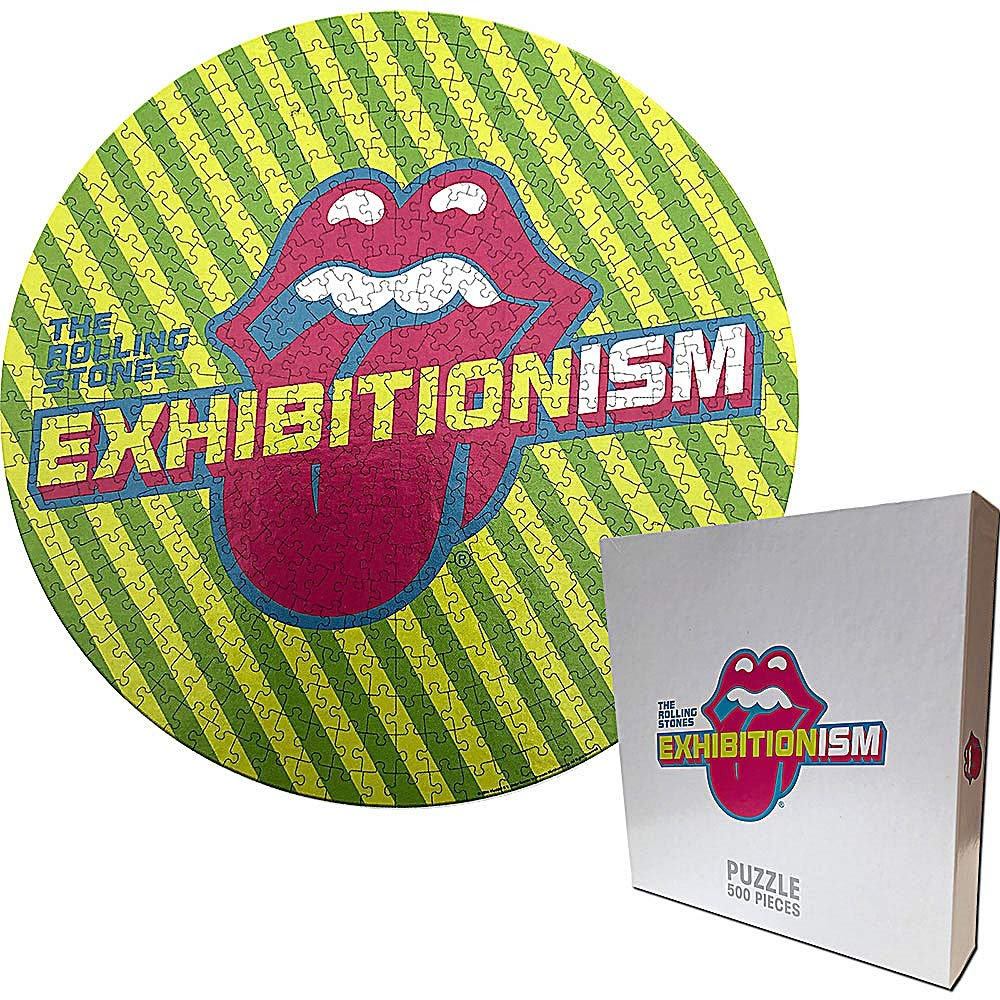 Puzzle 500 piese - The Rolling Stones - Exhibitionism Round | Rockoff ​