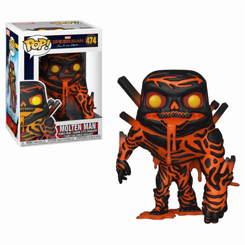 Figurina - Funko Pop! Marvel: Spiderman Far From Home - Molten-Man | FunKo