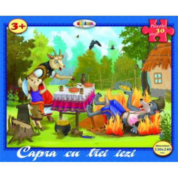 Puzzle - Capra cu trei iezi (30 piese) | Dorinta