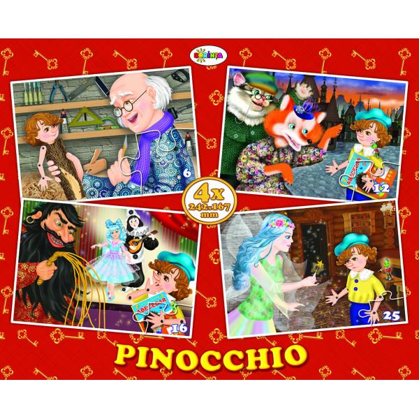 Puzzle Pinocchio - 4 bucati | Dorinta