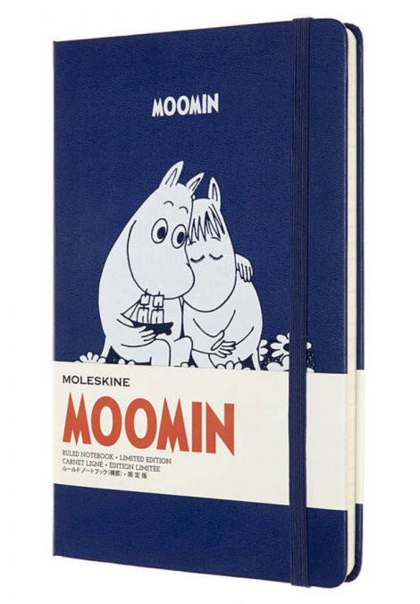 Carnet - Moleskine Moomin Limited Edition Ruled Notebook - Large, Hard Cover - Blue thumbnail