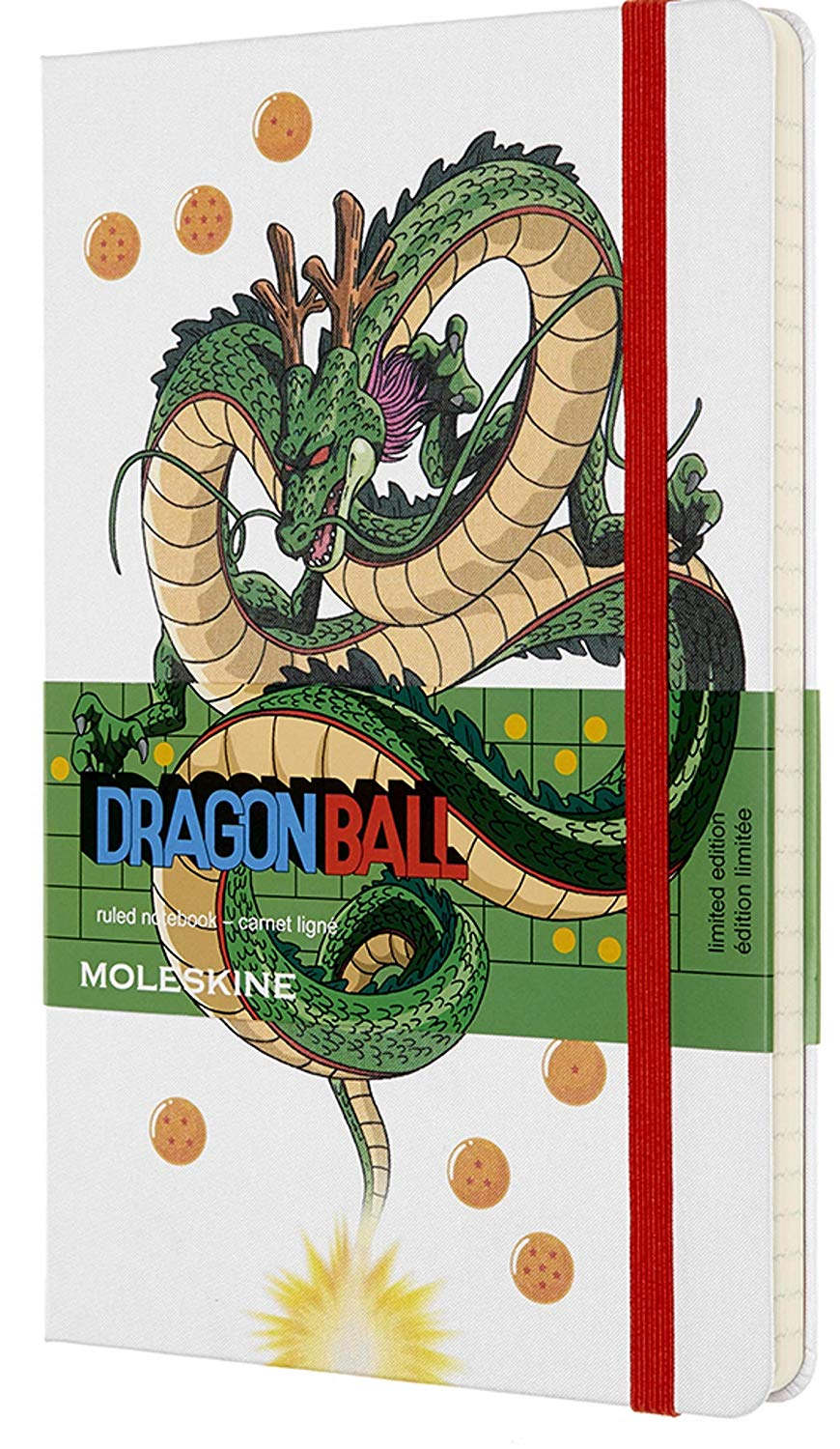 Carnet - Moleskine Dragonball Limited Edition Ruled Notebook - Large, Hard Cover, White - Dragon thumbnail