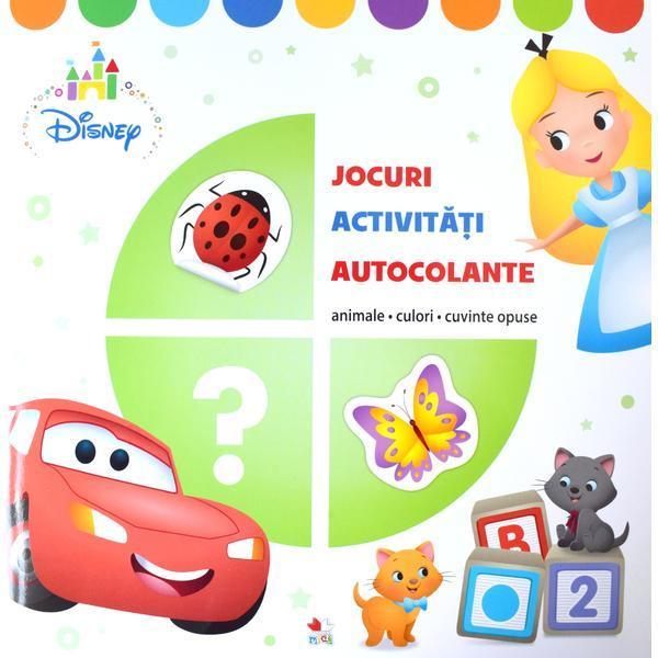 Disney. Jocuri, activitati, autocolante. Animale, culori, cuvinte opuse thumbnail
