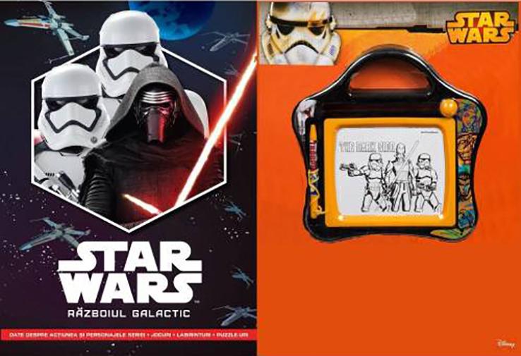 Set Small Magnetic Scribbler + Carte Star Wars. Razboiul galactic thumbnail
