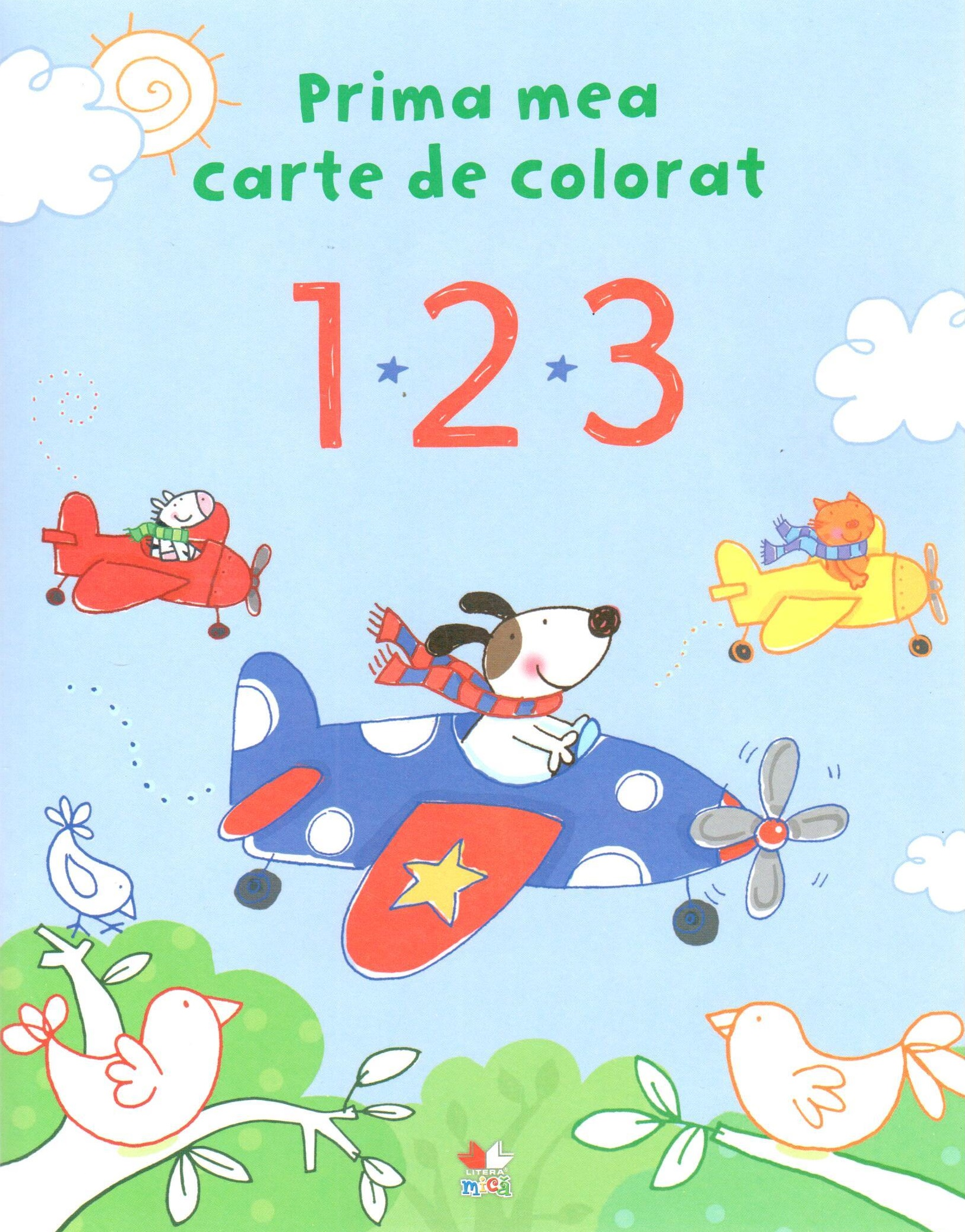 Prima mea carte de colorat - 1 2 3