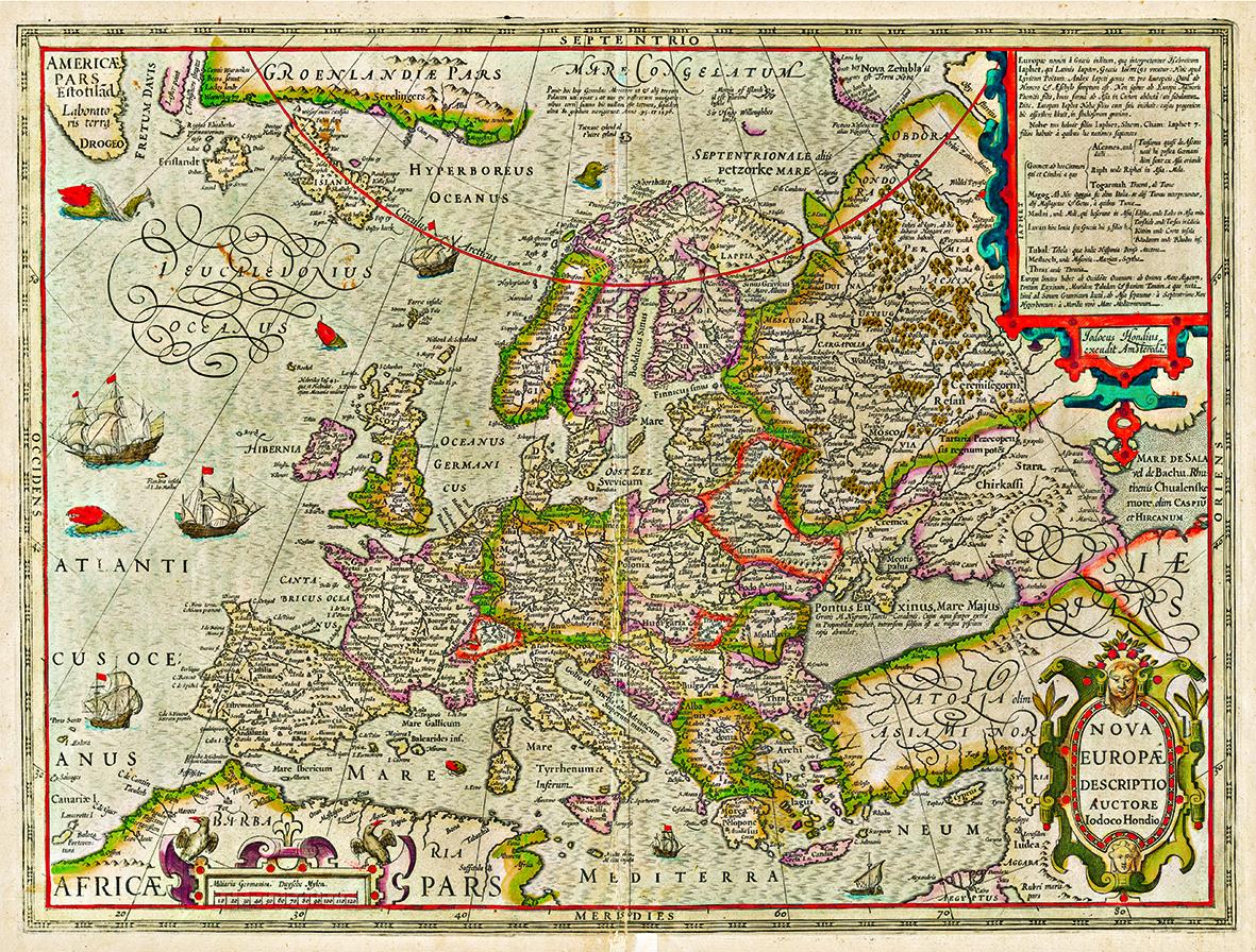 Harta Europa 1620