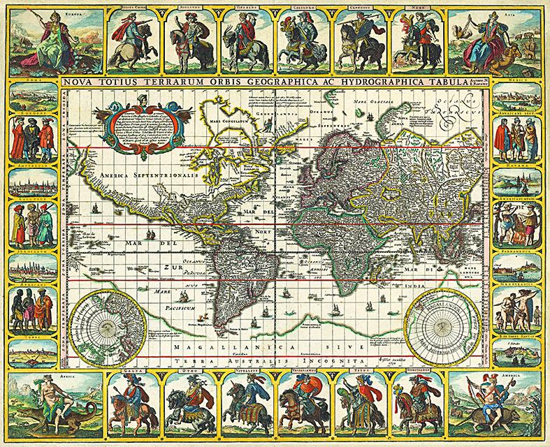 Harta Lumea 1652